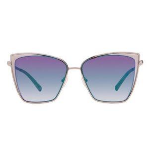 Diff Becky Gunmetal Sunglasses